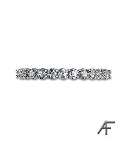 alliansring med diamanter 0.38 ct