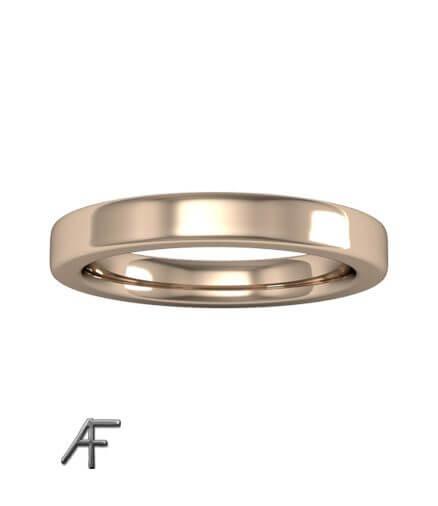 18 k 3 mm handsmidd guldring
