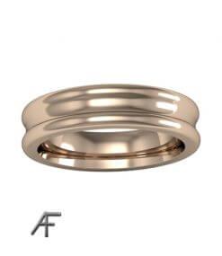 5 mm slät konkav guldring