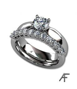 alliansring 0.38 ct enstensring