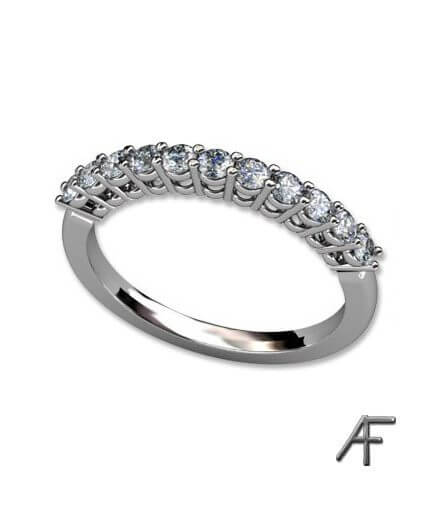 alliansring 0.38 ct vitguld