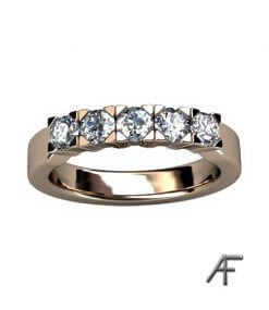 alliansring 5 briljantslipade diamanter