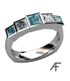 blue diamonds alliansring