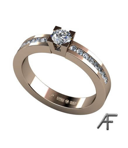 diamantring i 18 k guld