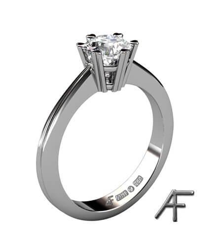 Enstensring vitguld diamant 0.70 ct
