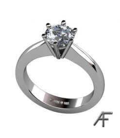 enstensring i vitguld med 1,0 ct diamant