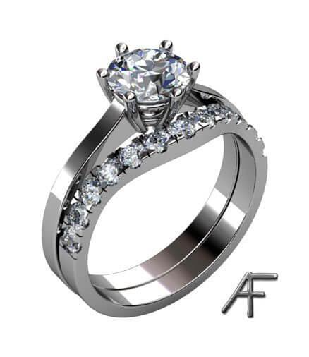 enstensring diamant 1.5 ct med passande alliansring