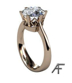 enstensring med diamant 2,7 ct
