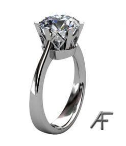 retrodesign av enstensring med stor diamant