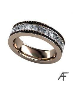 eternity vigselring med svarta diamanter