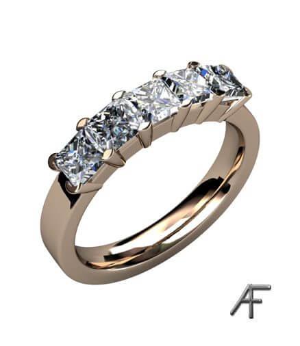 flandersslipade diamanter i alliansring