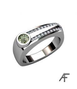 green diamond weddingring