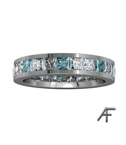 helalliansring skyblue diamanter