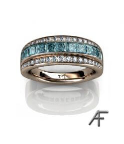 blå diamanter alliansring high above