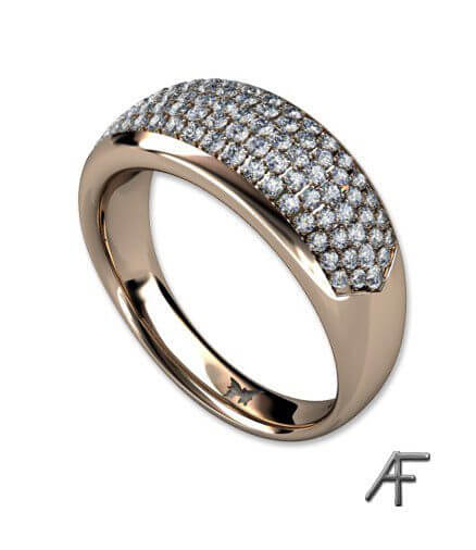 pavé infattade briljantslipade diamanter