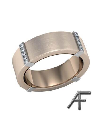 ring guld matterad med diamanter
