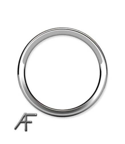 ring platina 3 mm från sidan