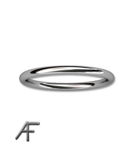 ring i platina cirkelform