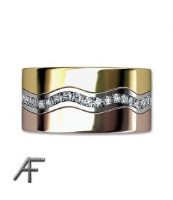 roseguld vitguld ring med diamanter