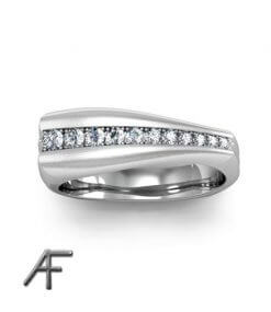 sidenmatt diamantring freeform