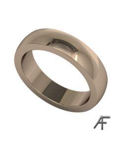 slät ring i 18 k rött guld