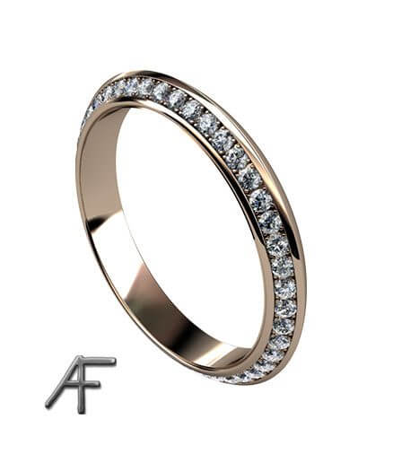 triangle alliansring faden diamanter