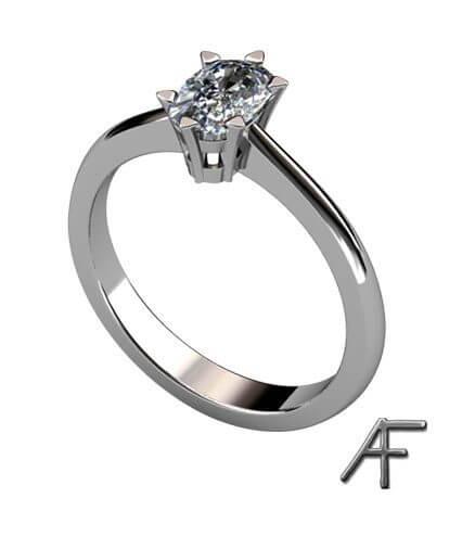 vitguld enstensring cusion slipad diamant