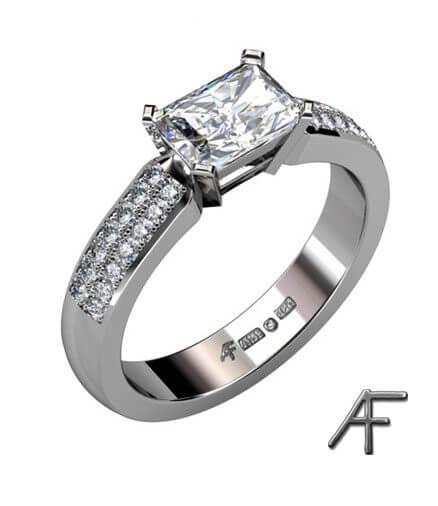 diamanter i vitguldsring