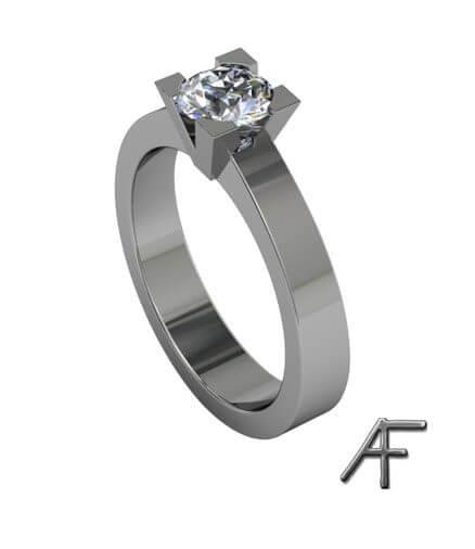 enstensring 0.55 ct diamant