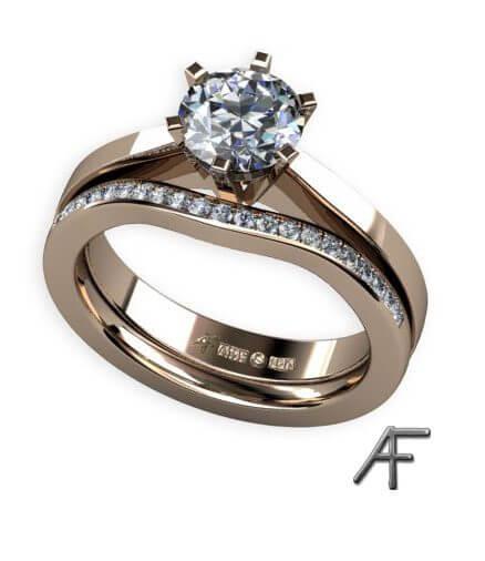 enstensring och alliansring med diamanter