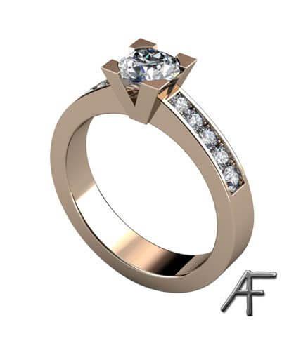 enstensring diamant med sidostenar