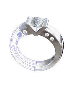 Cad skiss ring