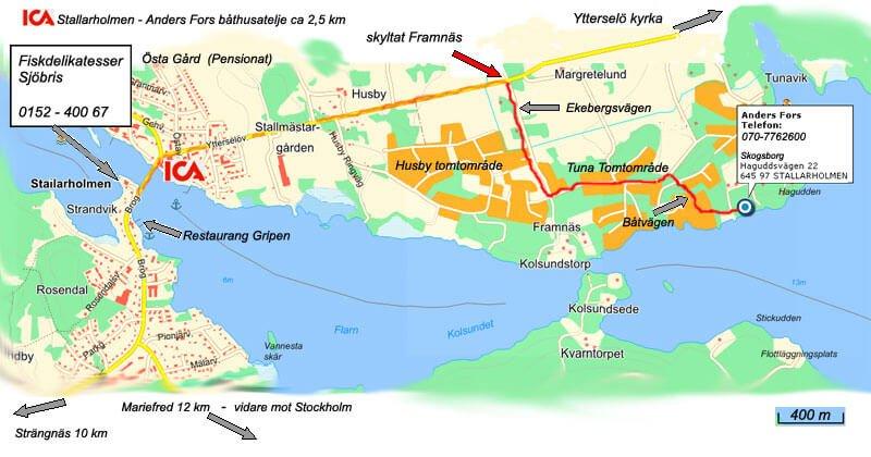 karta över Stallarholmen